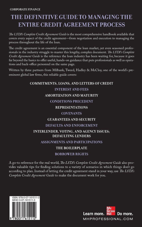 The Lsta'splete Credit Agreement Guide: Amazon: Richard Wight,  Warren Cooke, Richard Gray: 9780071615112: Books