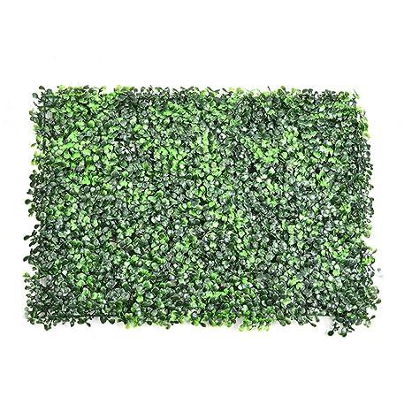 Künstliche Hecke Wanddekoration Sichtschutzhecke Pflanzen Hecke Gras 60*40cm