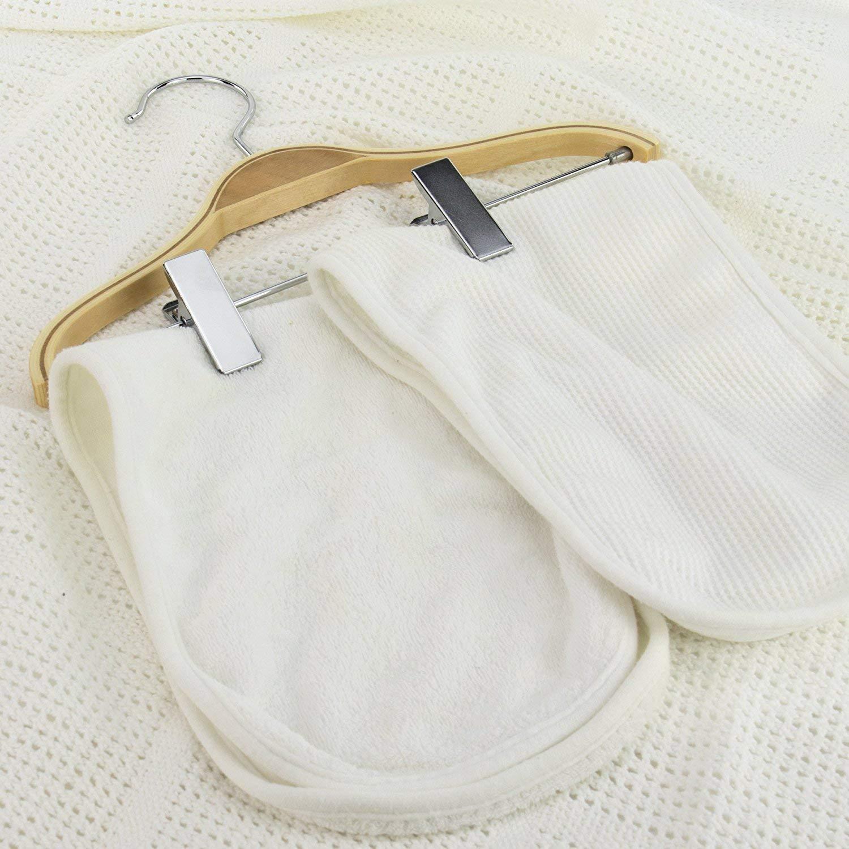 Hangerworld 6 Perchas de Madera Laminada 27cm con Pinzas para Ni/ños Pantalones Vestidos
