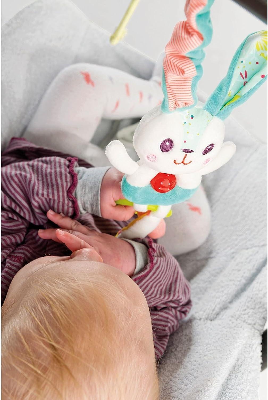 25x10 cm Lilliputiens 86857 Celestin ab 3 Monaten der Hase Rassel // Greifling mit Beissring und Gl/öckchen f/ür Babys ca