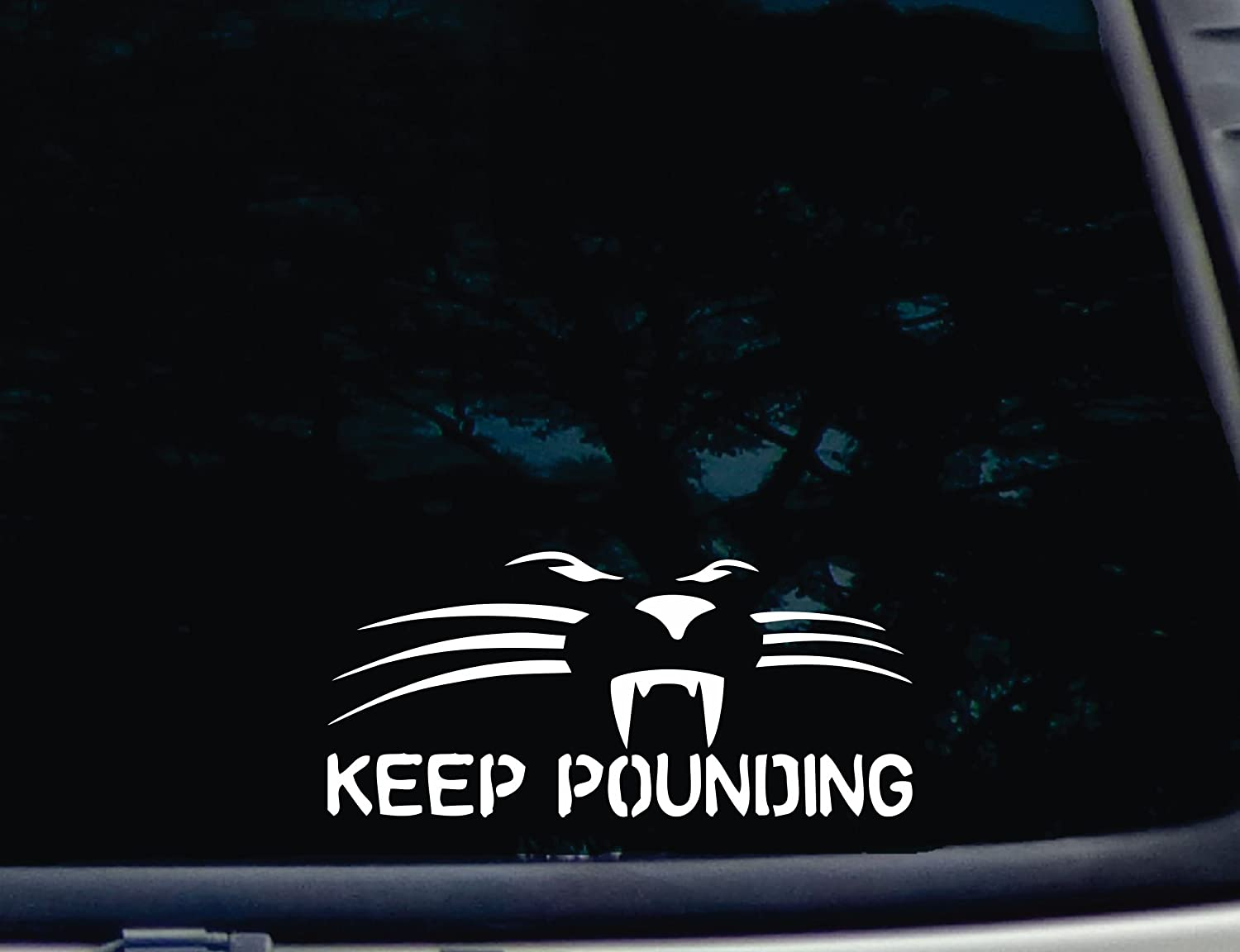 Amazoncom Keep Pounding  X   Die Cut Vinyl Decal For - Window car decals