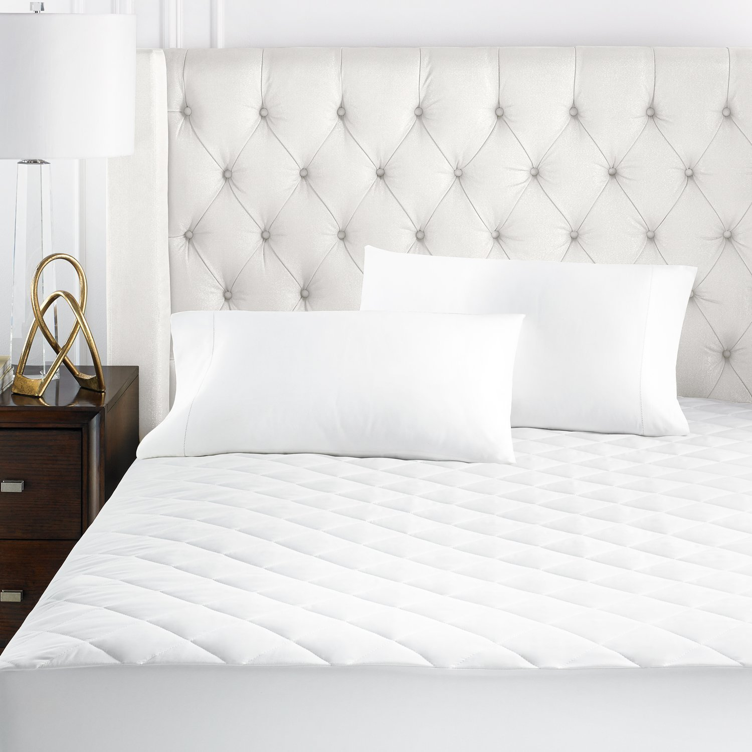 Beckham Hotel Collection Microfiber Mattress Pad - Quilted, Hypoallergnic, and Water-Resistant - Cal King