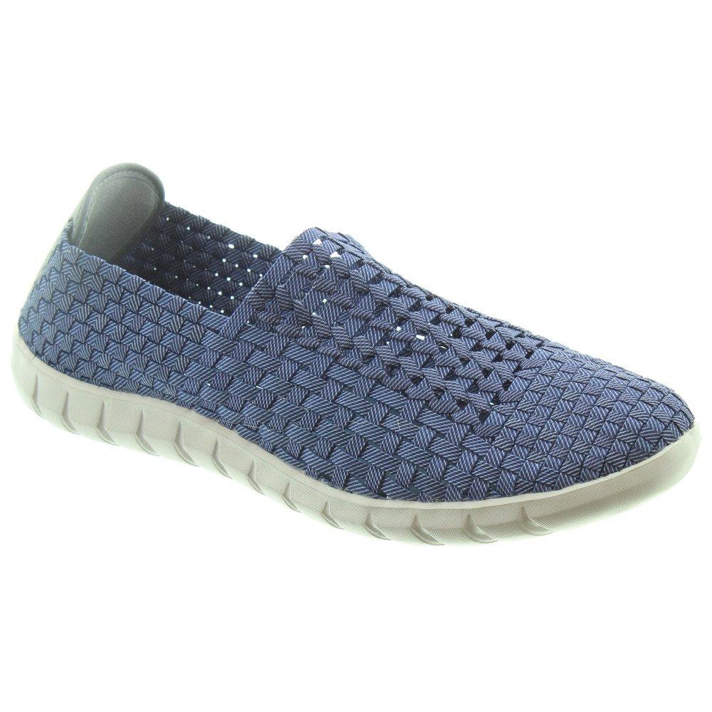 7e9e25502106 Adesso Mens Jake Weave Shoes in Denim
