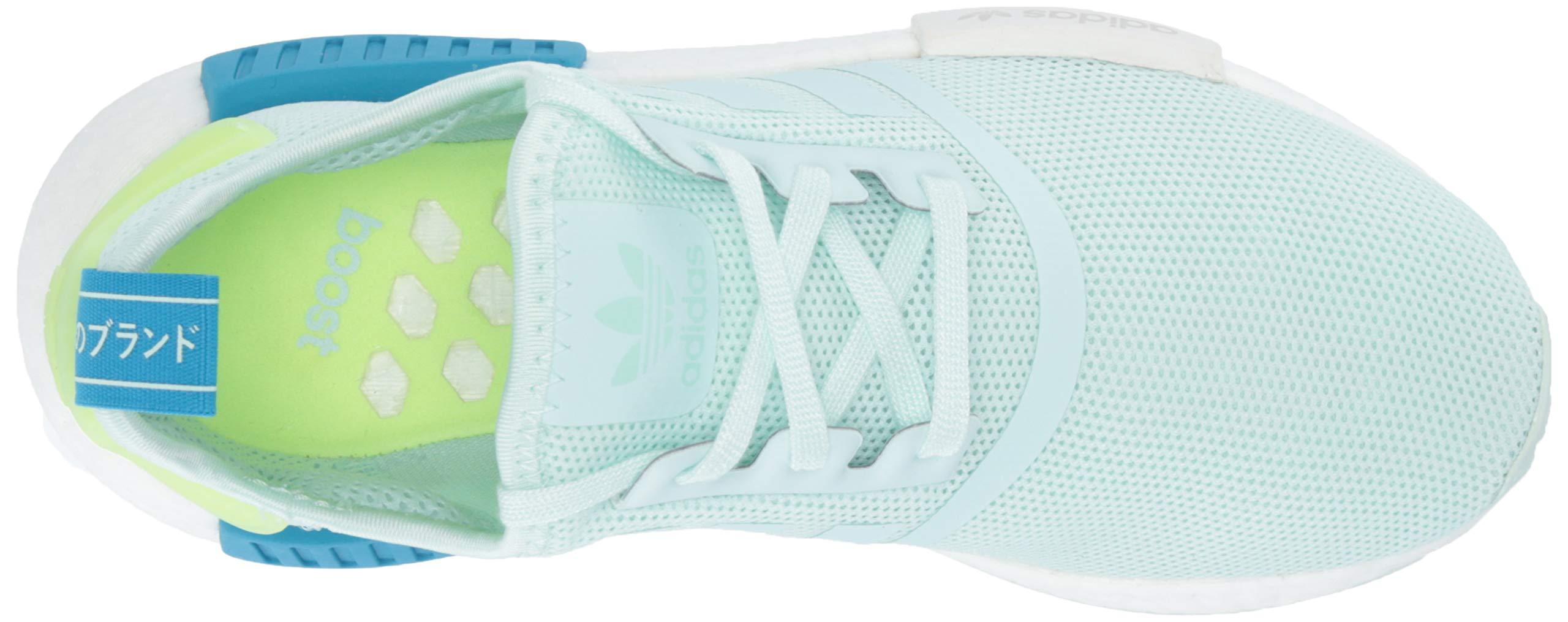 adidas Originals Unisex NMD_R1 Running Shoe, ice Mint/Shock Cyan, 3.5 M US Big Kid by adidas Originals (Image #7)