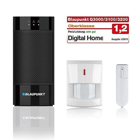 Blaupunkt Smart Home Alarm Q3000 Starter Kit für Haus, Wohnung, Geschäft,  Ferienhaus; Kit bestehend aus: IP-Alarmzentrale, Funk-Bewegungsmelder ...