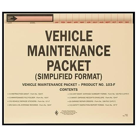 amazon com j j keller vehicle maintenance file packet with folders