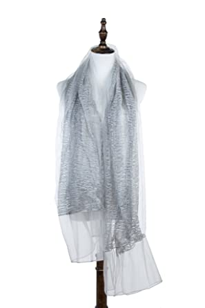 dab31b4aa Bazzaara Women Summer Lightweight Sheer Textured Scarf at Amazon ...