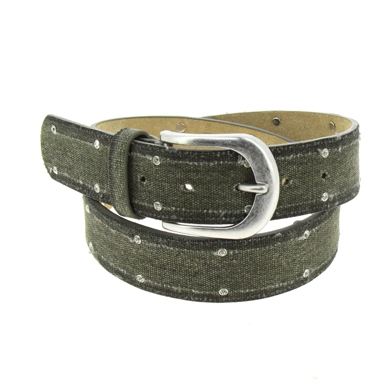 FASHIONGEN Denim leather Belt MARINE