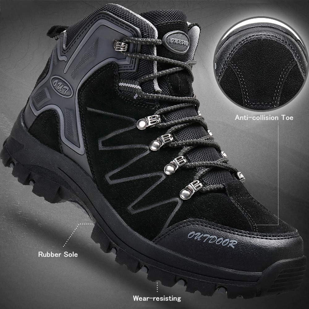 Ikeyo Wanderschuhe Herren Wasserdicht Trekkingschuhe Hiking Boots Outdoor Sports Walking Gleitsicher Klettern Stiefel