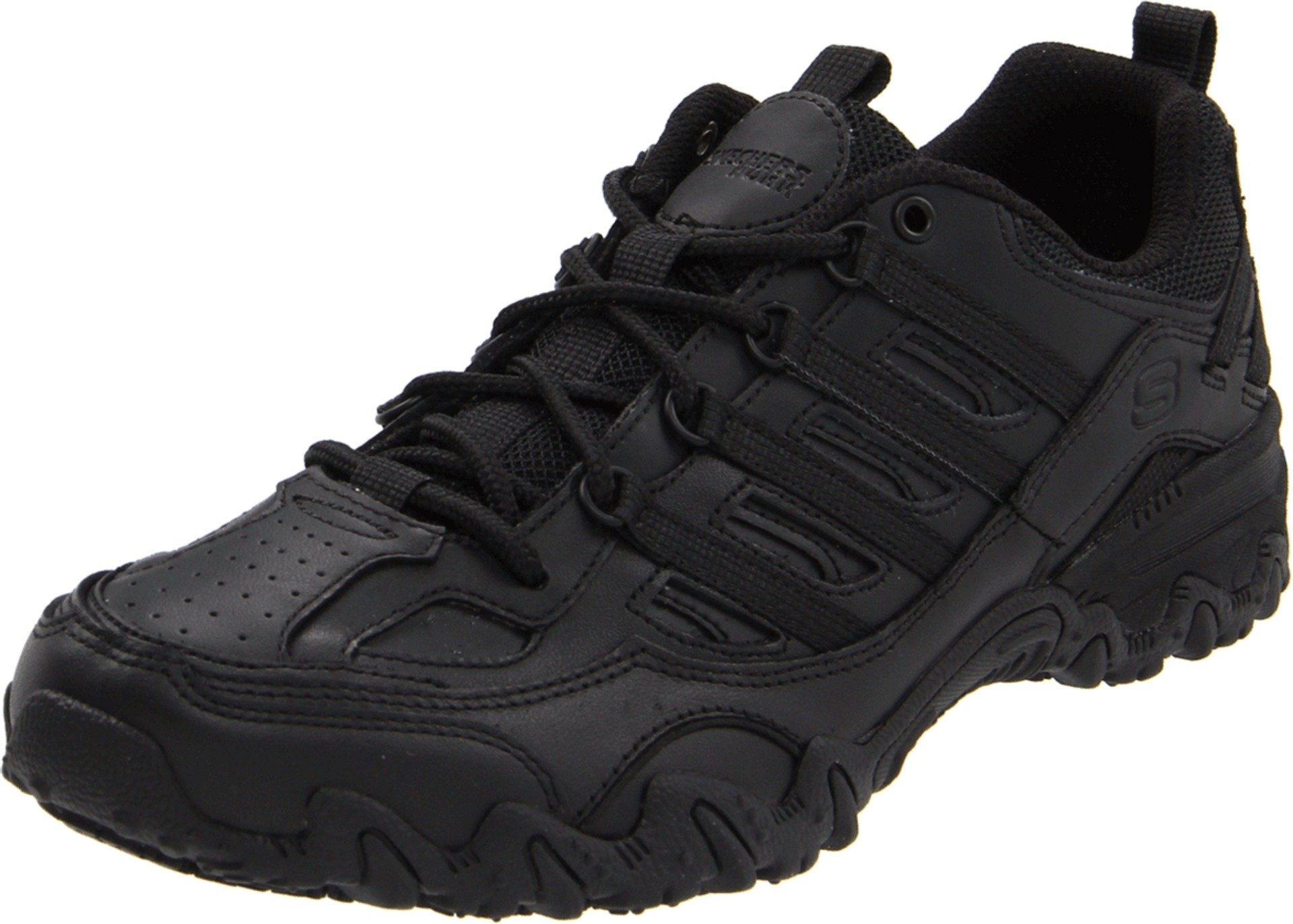 Skechers for Work Women's Compulsions Chant Lace-Up Work Shoe, Black, 10 M US