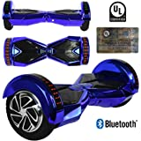 """8"""" inch Wheels Electric Smart Self Balancing Scooter Hoverboard With Bluetooth Speaker LED Light - UL2272 Certified"""