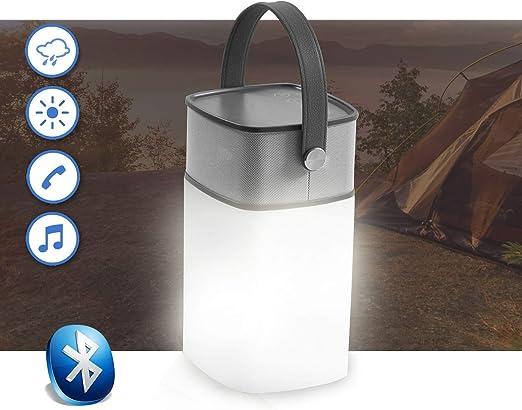 Altavoz portátil Bluetooth iluminada LED para exterior jardín, acampada, actividades de ocio al aire libre: Amazon.es: Hogar
