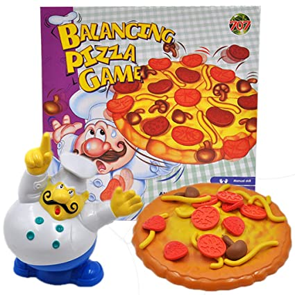 Amazon.com: Euone - Juego de equilibrio de pizza, apilable ...