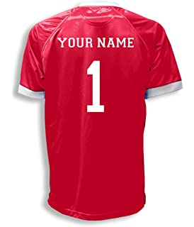 70a35f64ced Short Sleeve Goalie Jersey Personalized with Your Name and Number (with  free keeper pin)