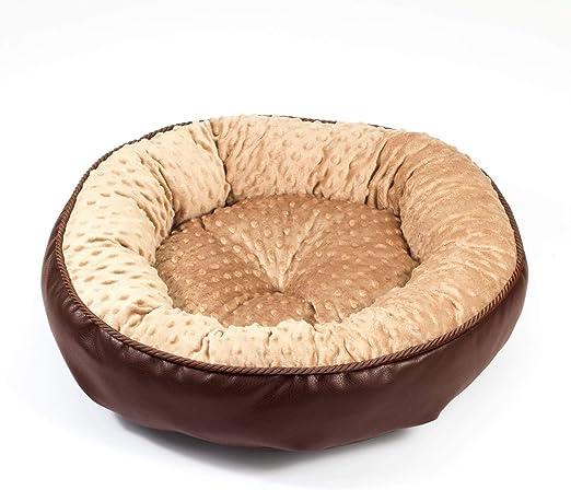 Boutique Zoo – Elegante cama para perros/marrón con beige Minky/cama para perros para pequeñas/medianas/Perros Grandes | sofá, perros – Cojín para perros | XS, S, M, L, XL, XXL: Amazon.es: Productos para