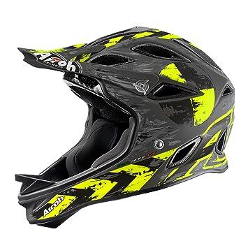 Airoh Downhill – Casco para bicicleta de montaña SE101 War – mate amarillo, ...