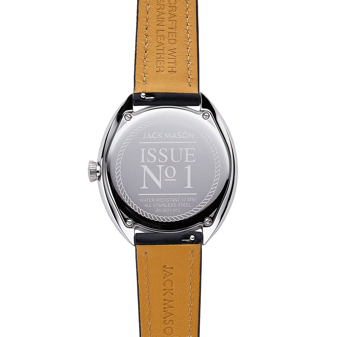 Jack Mason Women's Watch Issue No 1 SS Sub Second MOP Dial Black Leather Strap by Jack Mason (Image #3)