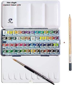 ESPACE BEAUX ARTS Estuche Pocket Box 48 Acuarela Van Gogh - El National Gallery - Metal Caja de 48 Acuarelas con Pincel y Dibujo a lápiz(France Import): Amazon.es: Juguetes y juegos