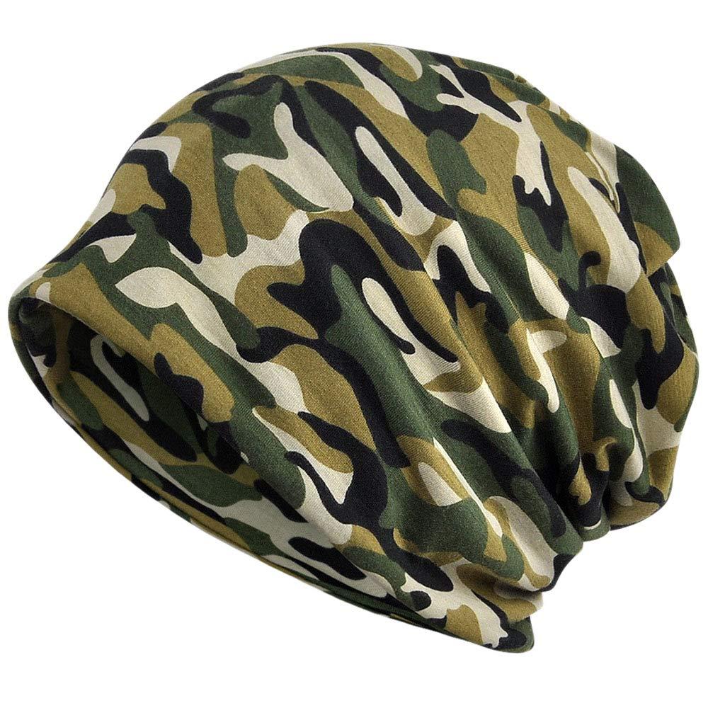 Kangqifen Mens Womens Camouflage Flexible Beanie Hat Cotton Outdoor Warm Hat Scarf Dual Purpose