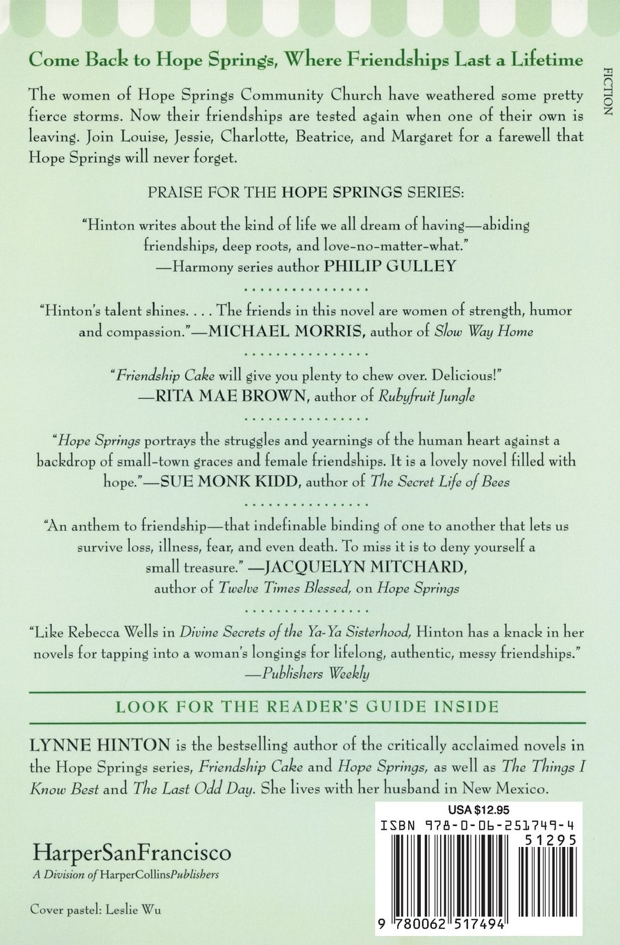 Forever Friends: A Novel (a Hope Springs Book): Lynne Hinton:  9780062517494: Amazon: Books