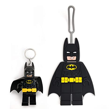 Amazon com: LEGO Batman Movie Batman Minifigure Key Light & Luggage