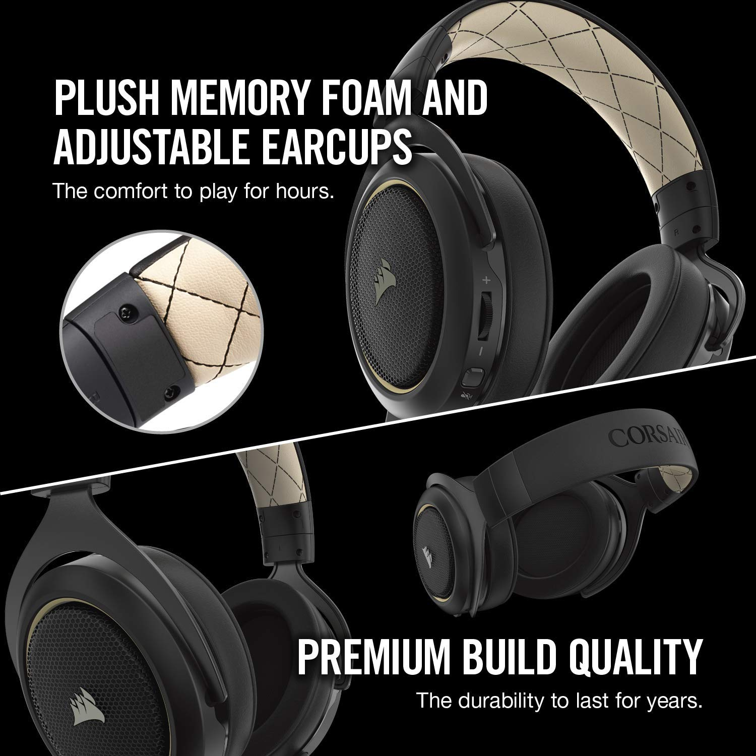 CORSAIR HS70 SE Wireless - 7.1 Surround Sound Gaming Headset - Discord Certified Headphones - Special Edition by Corsair (Image #2)