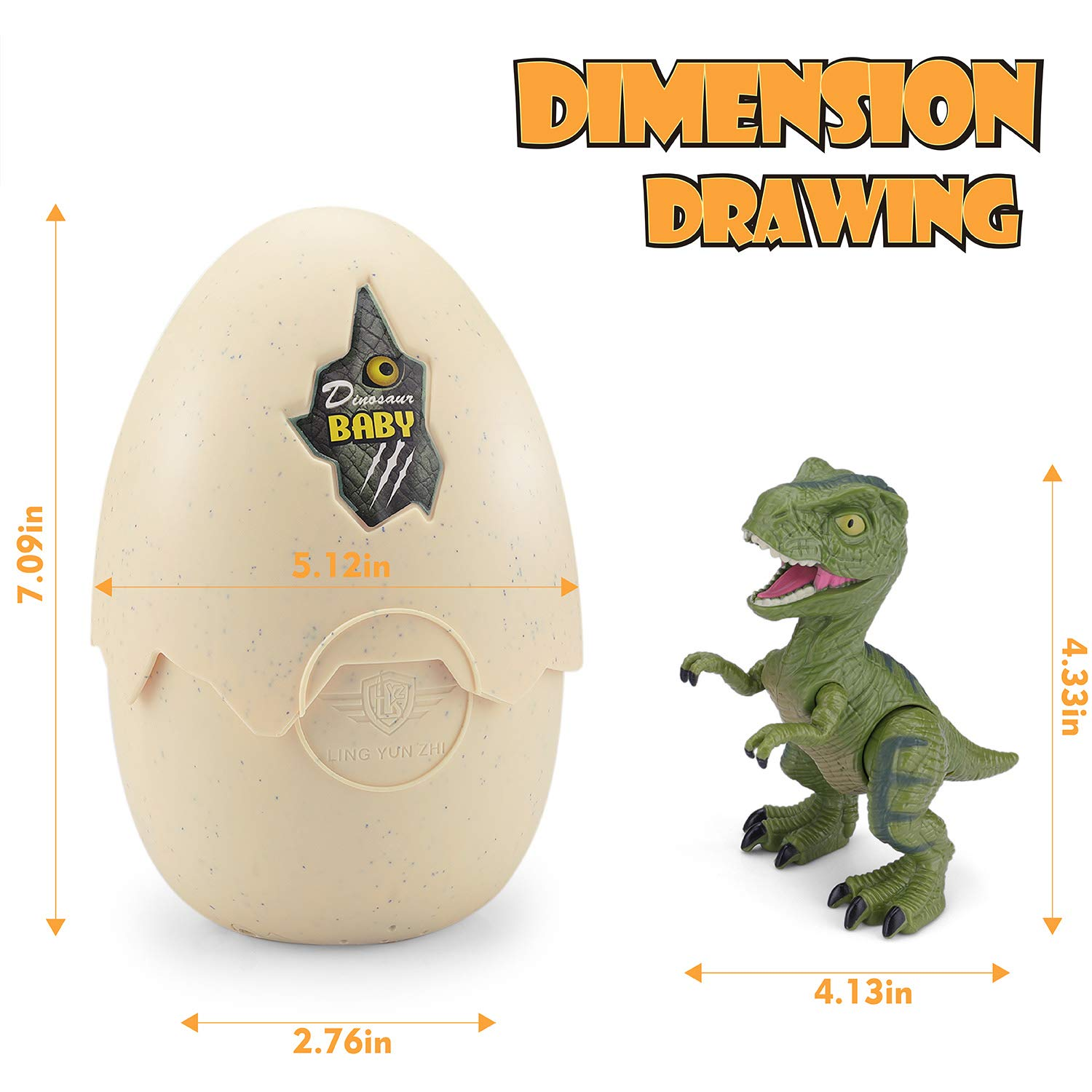 EPE TOP Hatching Egg Dinosaur Toy Sound and LED Lights Effect Novelty Educational Toy Easter Party Favors Gift for Kids Boys Girls Dinosaur Eggs That Hatch with Realistic Dinosaur Action Figure