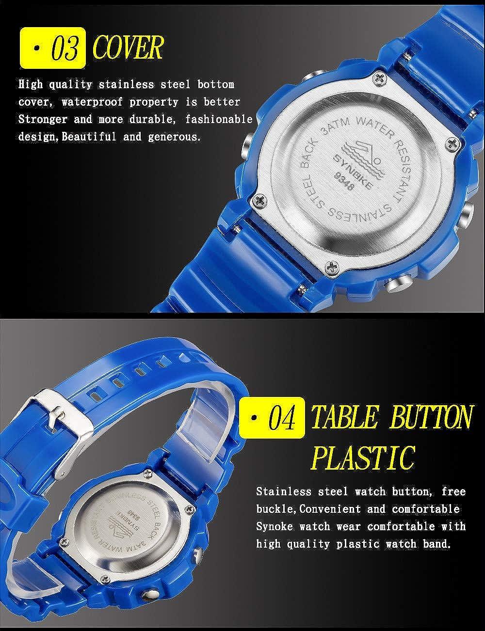 Rcool Relojes suizos relojes de lujo Relojes de pulsera Relojes para mujer Relojes para hombre Relojes deportivos,Reloj deportivo impermeable LED: ...