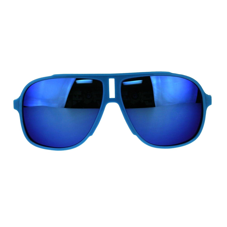 Kids Boys Thin Plastic Racer Color Mirror Sport Sunglasses SA106 sf2311-bkbk