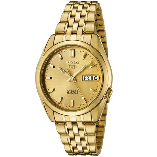 Seiko SNK366K - Reloj para hombres color dorado: Seiko: Amazon.es: Relojes