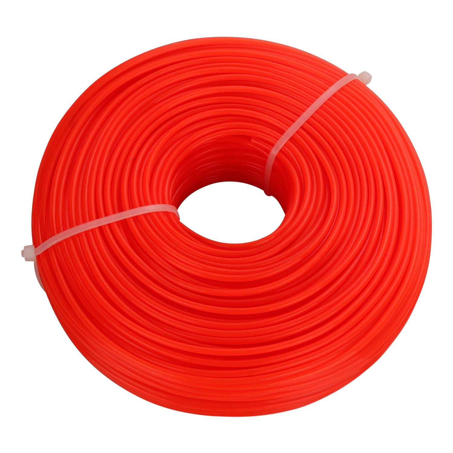 STARVAST Nylon Strimmer Trimmer Line 2.4mm x 100m Heavy Duty Brush Cutter Round Core Wire – Orange
