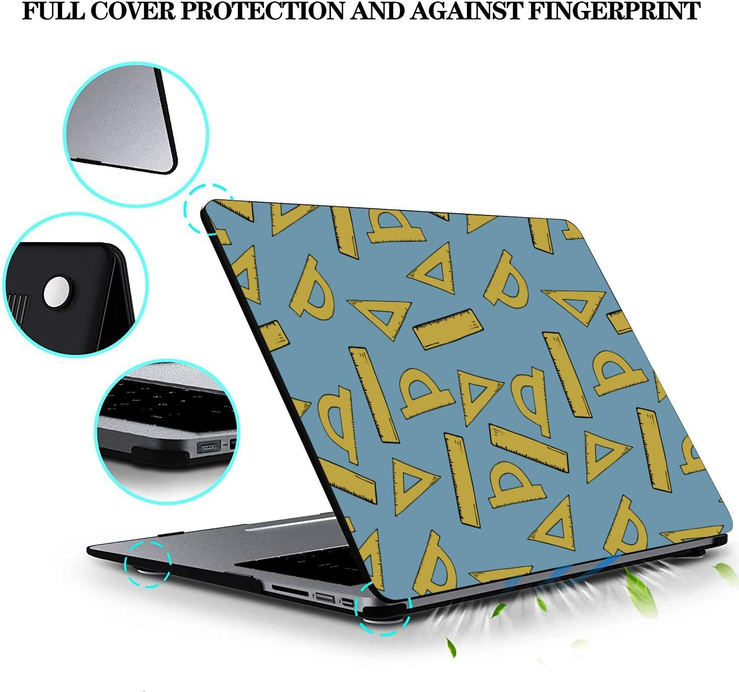 Mackbook Case School Supplies Cute Stationery Bag Plastic Hard Shell Compatible Mac Air 11 Pro 13 15 MacBook Assessories Protection for MacBook 2016-2019 Version