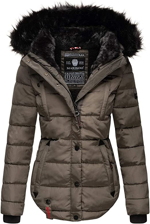 Marikoo warme Damen Winter Jacke Winterjacke Steppjacke