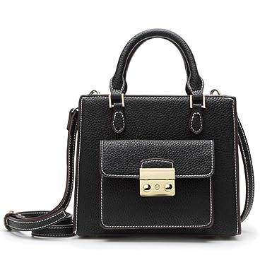 Handtasche Diagonal Paket PU-Leder-Handtasche Damenmode Tasche Einfach Wilde,Brown-OneSize GKKXUE