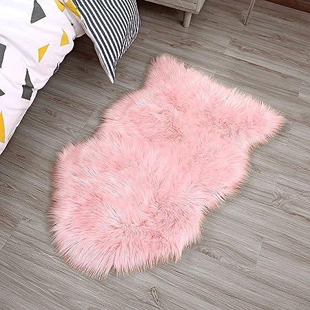 Remplie de luxe large laine velours Sol Chaise Coussin Rose Jaune 50 x 12 cm