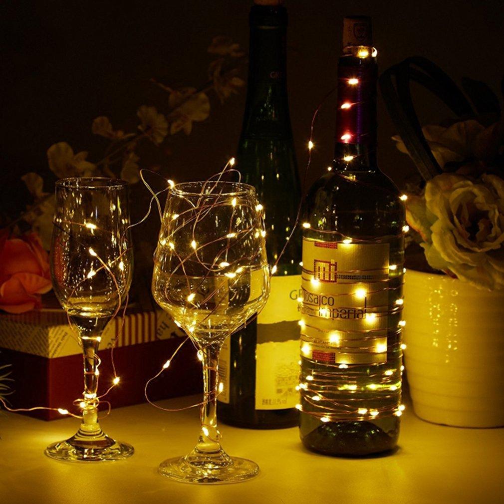Lámparas de botella de vino botella guirnaldas para botella DIY, fiesta, escenario, Navidad, boda, regalo para los amantes de barbacoa vino, ...