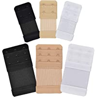 6pcs Bra Extenders 3 Hooks 2 Hook Soft Bra-Extenders Adjustable Bra Strap Extender Elastic Straps for Women Ladies…