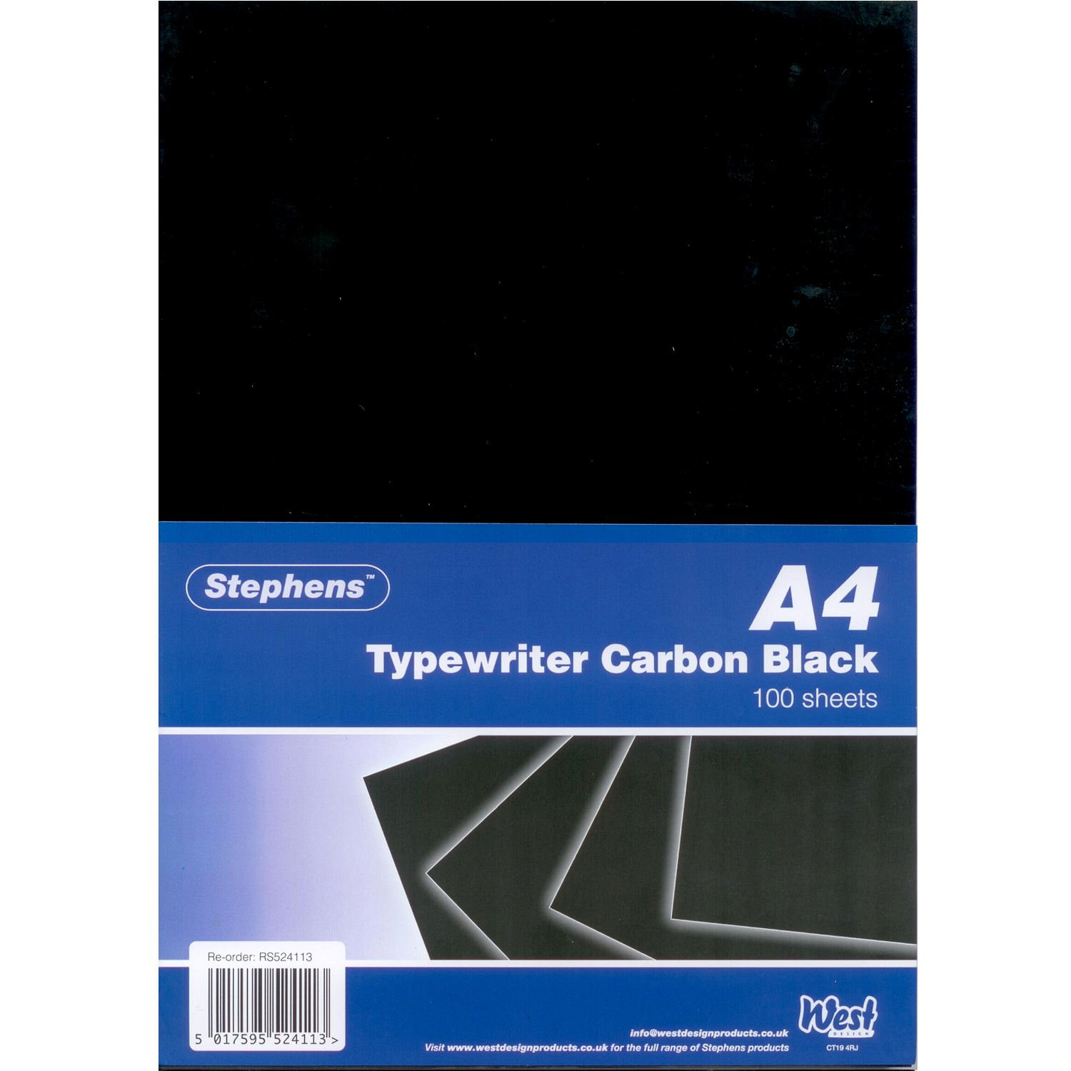 Stephens Typewriter Carbon Paper Black A4 (100 Sheets) RS524113