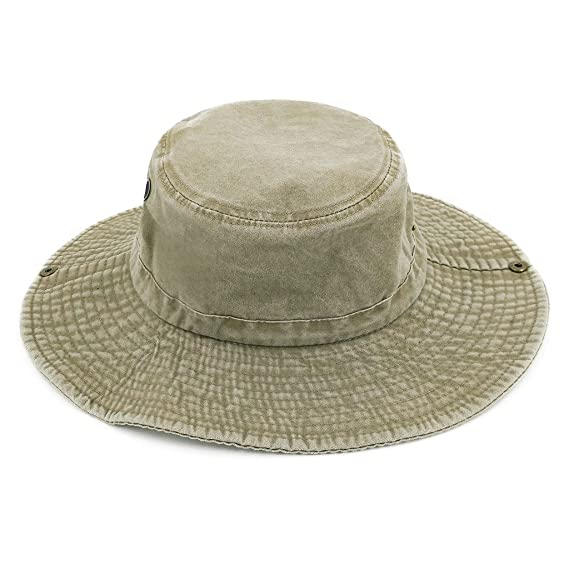 1fddcf26 LETHMIK Weathered Cotton Boonie Hat Unisex Fishing Sun Camouflage Hat With  Chin Cord Beige: Amazon.co.uk: Sports & Outdoors