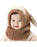 Lowpricenice Winter Baby Kids Girls Boys Warm Woolen Coif Hood Scarf Caps Hats