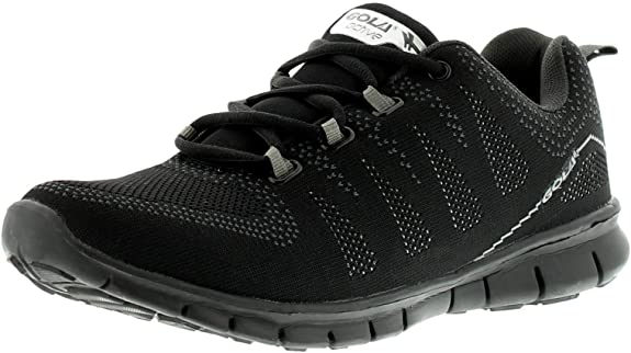 Gola Hombre Tempe Zapatillas Running Incorporando a Plano Tejido Empeine sin Costura Estructura para Total Confort en Su Run y un Sintético Suela - Negro - Negro, 45: Amazon.es: Zapatos y complementos