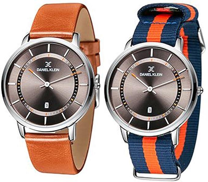 891db0a1084d Daniel pequeño Slim Conjunto para hombre reloj de pulsera piel dk11285 - 6   Amazon.es  Relojes
