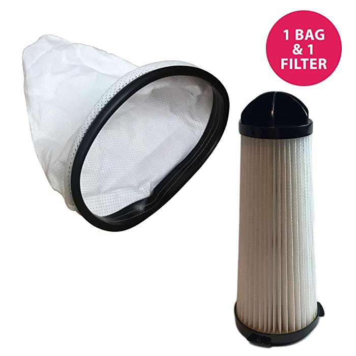 Think Crucial Replacement for Hoover Backpack Vacuum Bag & HEPA Style Filter Fits C2401 Commercial Backpack, Compatible with Part # 2KE2110000 & 2-KE2110-000