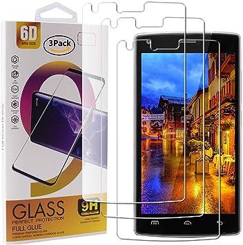 Guran 3 Paquete Cristal Templado Protector de Pantalla para Doogee X5 MAX/Doogee X5 MAX Pro Smartphone 9H Dureza Anti-Ara?azos Alta Definicion Transparente Película: Amazon.es: Electrónica
