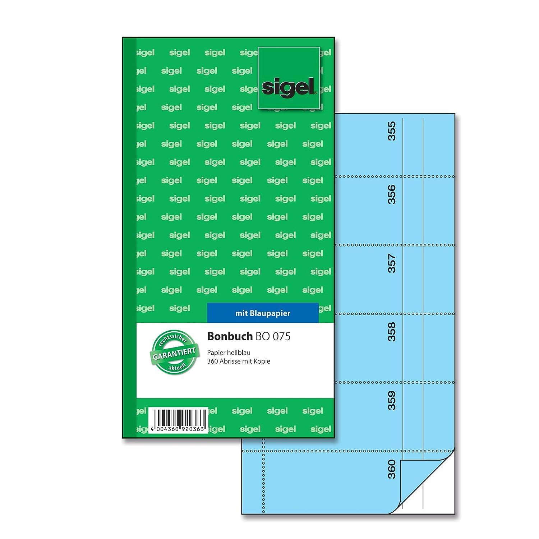 Sigel-Blocco voucher bo071 biglietti 105-360 giallo BO076