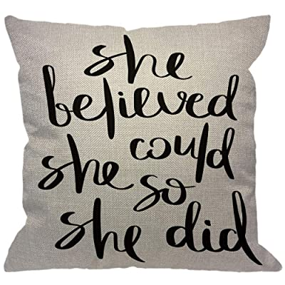 She Believed She Could So She Did Decorative Pillow
