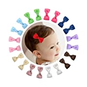 Shemay 10 Pairs 2  Tiny Boutique Grosgrain Ribbon Hair Bow Alligator Clips Barrettes for Baby Girls Toddlers Kids