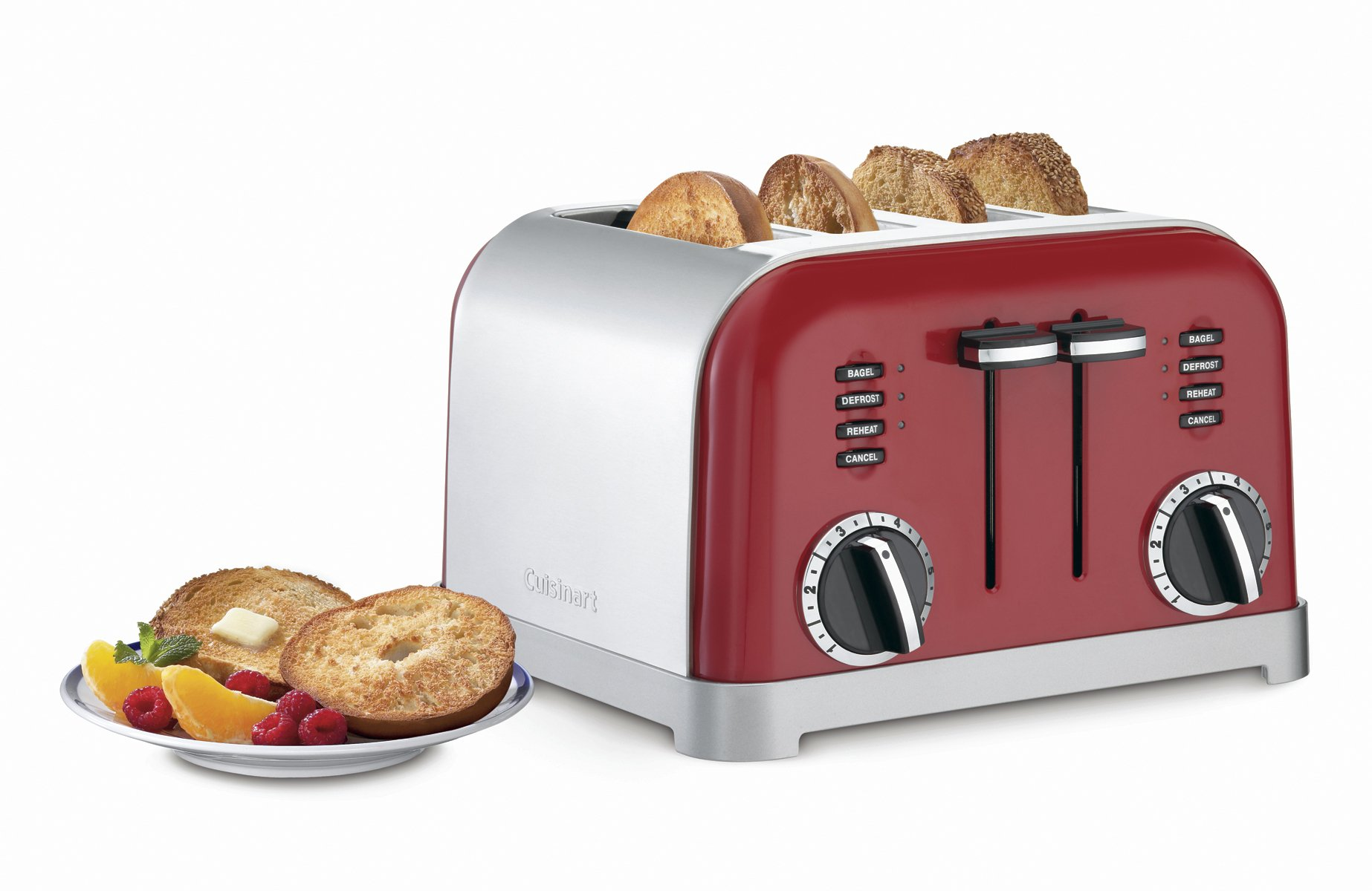 Cuisinart CPT-180MR Classic 4-Slice Toaster, Metallic Red by Cuisinart