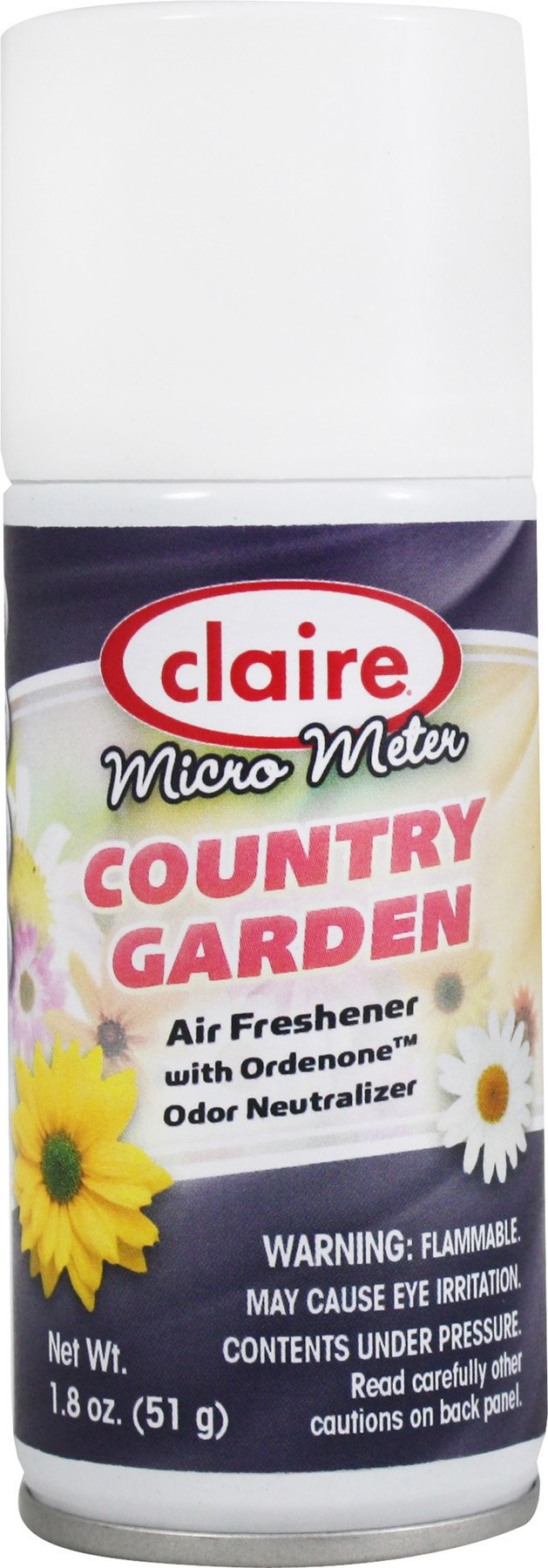 Clair CL224 Micro-Metered Air Freshener, Country Garden, 1.8 oz. Can (Pack of 12)