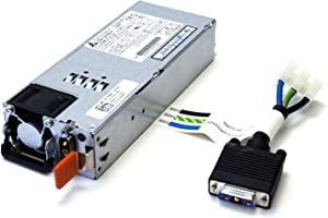New 721Y0 Genuine OEM Dell Force 10 S-Series S55 S60 DC 800W Autoranging Power Supply Assembly for Normal Airflow IO/PSU Power Source w/Safety Ground Assy Delta DPS-800AB-5 PWR SPLY DC F10 NORM 09X80T